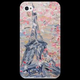 """Чехол для iPhone 4/4S """"Париж"""" - цветы, весна, франция, париж, эйфелева башня"""