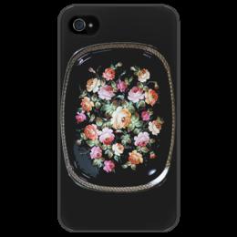 """Чехол для iPhone 4/4S """"Жостовский поднос"""" - цветы, жостовская роспись, жостово, промысел"""