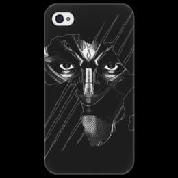 """Чехол для iPhone 4/4S """"Чёрная пантера"""" - черная пантера, мстители, марвел, marvel, black panther"""