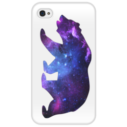 "Чехол для iPhone 4/4S ""Space animals"" - space, bear, медведь, космос, астрономия"