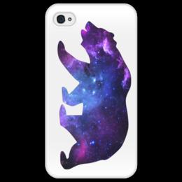 "Чехол для iPhone 4/4S ""Space animals"" - space, bear, медведь, космос, астрономия"
