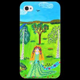 """Чехол для iPhone 4/4S """"Мир волшебства"""" - ручная работа, детский рисунок, от детей, детская работа"""
