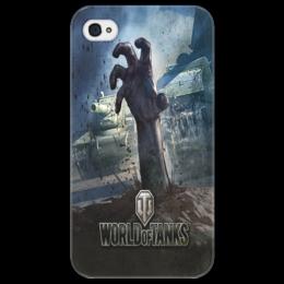 """Чехол для iPhone 4/4S """"World of Tanks: Zombies to Swarm"""" - зомби, world of tanks, танки, wot"""