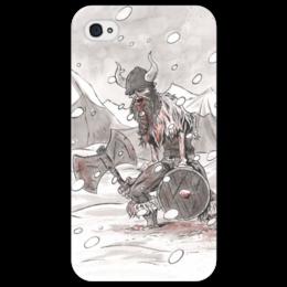 """Чехол для iPhone 4/4S """"Викинг. После боя."""" - история, викинги, vikings, путь воина, скандинавы"""