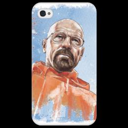 """Чехол для iPhone 4/4S """"Breaking Bad Walter White"""" - арт, айфон, популярные, в подарок, оригинально, во все тяжкие, чехол, breaking bad, walter white, breaking bad walter white"""
