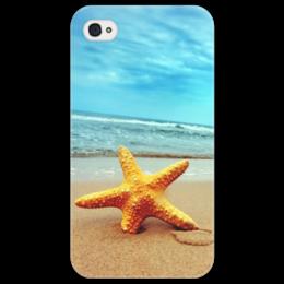 """Чехол для iPhone 4/4S """"Морская звезда"""" - starfish, морская звезда, beach, sea, пляж, море"""