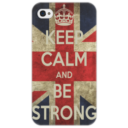 "Чехол для iPhone 4/4S ""Keep calm"" - flag, uk, великобритания, great britain"