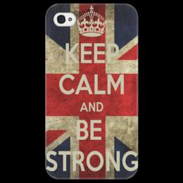 "Чехол для iPhone 4/4S ""Keep calm"" - flag, uk, великобритания, great britain"
