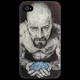"""Чехол для iPhone 4/4S """"HEISENBERG"""" - арт, во все тяжкие, breaking bad, walter white, meth, heisenberg, метамфетамин"""