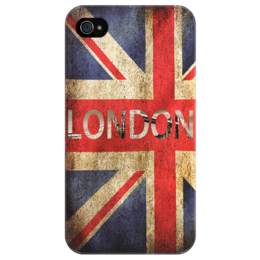 "Чехол для iPhone 4/4S ""London UK"" - арт, лондон, флаг, uk, united kingdom, london, england"