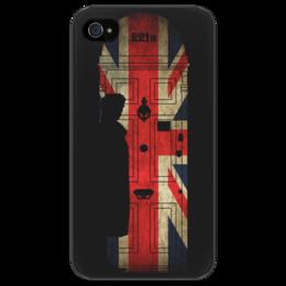 """Чехол для iPhone 4/4S """"Шерлок Холмс"""" - арт, sherlock, шерлок холмс, sherlock holmes, england, uk, london, лондон, великобритания"""
