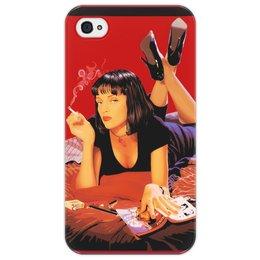 "Чехол для iPhone 4/4S ""Pulp Fiction (Ума Турман)"" - mia, pulp fiction, тарантино, ума, криминальное чтиво"