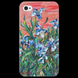 """Чехол для iPhone 4/4S """"Ирисы"""" - любовь, весна, девушке, spring"""