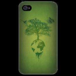 """Чехол для iPhone 4/4S """"Это наш мир"""" - в подарок, зеленый мир"""
