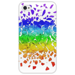 """Чехол для iPhone 4/4S """"Broken rainbow"""" - радуга, rainbow, broken, сломанная"""