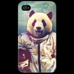"Чехол для iPhone 4/4S ""Панда астронавт"" - арт, стиль, панда, astronaut, panda"