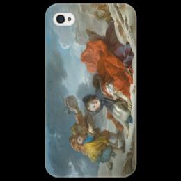 """Чехол для iPhone 4/4S """"Зима (Картина Фрагонара)"""" - картина, фрагонар"""