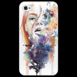 """Чехол для iPhone 4/4S """"Девушка"""" - арт, стиль, популярные, оригинально, креативно"""
