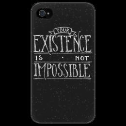 """Чехол для iPhone 4/4S """"""""Ваше существование не допускается"""""""" - собаки, welcome to night vale, добро пожаловать в найт вейл, подкаст, wtnv, капюшоны, существование, невозможность"""