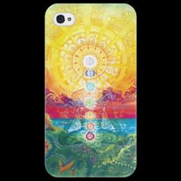 "Чехол для iPhone 4/4S ""चक्र cakra"" - любовь, йога, чакра, yoga, hindu, yogi, prana, прана"
