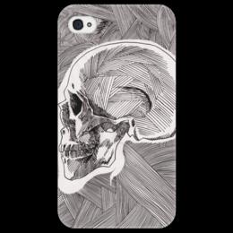 "Чехол для iPhone 4/4S ""Череп"" - skull, череп, арт, линии, stripes"