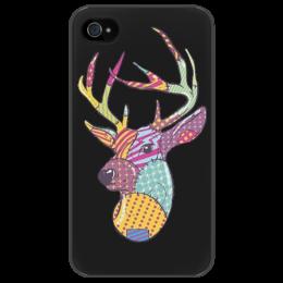 """Чехол для iPhone 4/4S """"dear deer"""" - арт, олень, patch"""