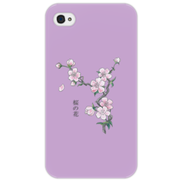 "Чехол для iPhone 4/4S ""Японская сакура"" - цветы, рисунок, вишня, сакура"