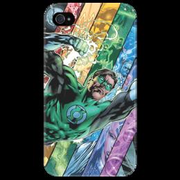 """Чехол для iPhone 4/4S """"Зеленый фонарь"""" - арт, iphone, комиксы, кино, зеленый, фан-арт, dc, фонарь, green lantern, фэн-арт"""