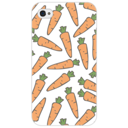 """Чехол для iPhone 4/4S """"Морковки"""" - морковь, овощи, лето, здоровье, веган"""