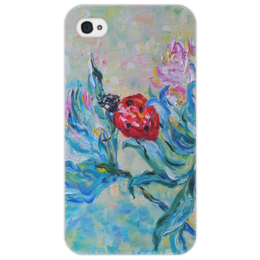 """Чехол для iPhone 4/4S """"Божья коровка"""" - арт, лето, цветы, популярные, summer, весна, beautiful, spring, ladybug"""