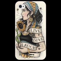 """Чехол для iPhone 4/4S """"Tattoo"""" - в подарок, оригинально"""
