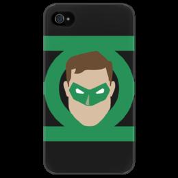 """Чехол для iPhone 4/4S """"Зеленый фонарь"""" - iphone, комиксы, кино, знак, зеленый, иллюстрация, мульт, эмблема, фан-арт, чехол"""