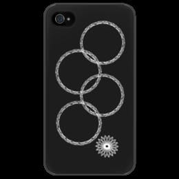 """Чехол для iPhone 4/4S """"Нераскрывшееся кольцо (снежинка)"""" - олимпиада, сочи 2014, нераскрывшееся кольцо, нераскрывшаяся снежинка, олимпийская эмблема"""