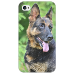 "Чехол для iPhone 4/4S ""Лесная собака"" - собака, овчарка, овчар-команда"