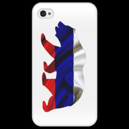 "Чехол для iPhone 4/4S ""Русский Медведь"" - bear, медведь, русский, флаг, russian"