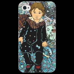 """Чехол для iPhone 4/4S """"маленький принц"""" - звезды, роза, космос, мальчик, дети, маленький принц"""