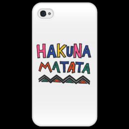 "Чехол для iPhone 4/4S ""Акуна Матата"" - дисней, король лев, тимон и пумба, акуна матата, хакуна матата"
