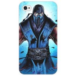"""Чехол для iPhone 4/4S """"Mortal Kombat X (Sub-Zero)"""" - воин, боец, mortal kombat, sub-zero"""