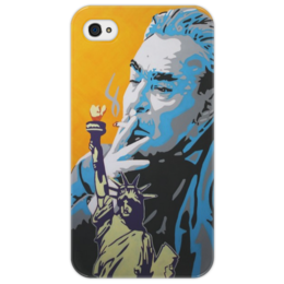 "Чехол для iPhone 4/4S ""Up in smoke"" - ussr, брежнев, brezhnev, cold war"
