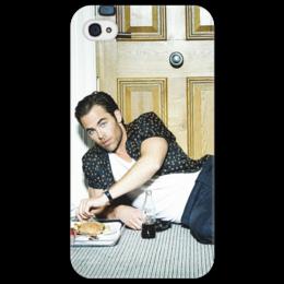 """Чехол для iPhone 4/4S """"Крис Пайн """" - в подарок, девушке, крис пайн, chris pine, нови"""