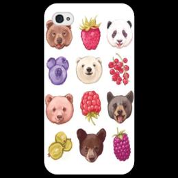 "Чехол для iPhone 4/4S ""TeddyBears"" - bear, berries, медведь, ягоды, мишки"