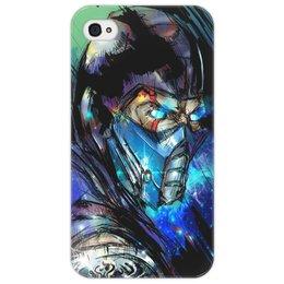 "Чехол для iPhone 4/4S ""Mortal Kombat X (Sub-Zero)"" - воин, боец, космос, mortal kombat, sub-zero"