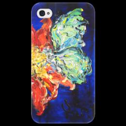 "Чехол для iPhone 4/4S ""Нектар"" - красиво, бабочка, цветок, весна, ярко"