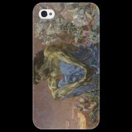 "Чехол для iPhone 4/4S ""Демон сидящий"" - картина, врубель"