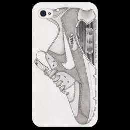 """Чехол для iPhone 4/4S """"Nike air max 90 in gray """" - арт, стиль, рисунок, old school, sneakers"""