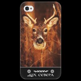 "Чехол для iPhone 4/4S ""Дух Севера"" - природа, дух севера, путь воина, олень, норды"