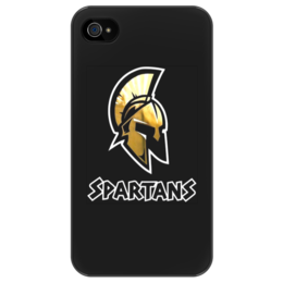 """Чехол для iPhone 4/4S """"MoscowSpartans"""" - moscowspartans, spartans, moscow, американский футбол, спартанцы"""