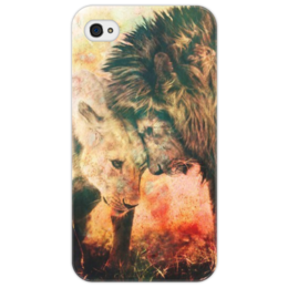 "Чехол для iPhone 4/4S ""LoveLy"" - любовь, лев, lion, пара, львица, couple, lioness"