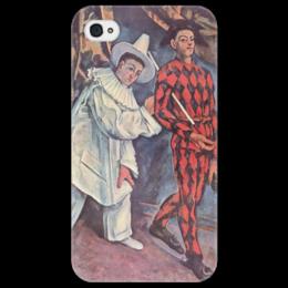 "Чехол для iPhone 4/4S ""Пьеро и Арлекин"" - картина, сезанн"