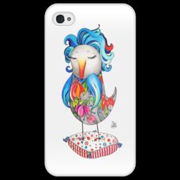 """Чехол для iPhone 4/4S """"Птица Блага"""" - авторская птица, блага, blaga"""